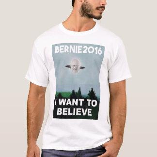 Camiseta Eu quero acreditar no T de Bernie
