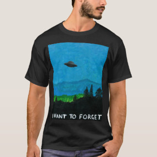 Camiseta EU QUERO ESQUECER o preto do t-shirt