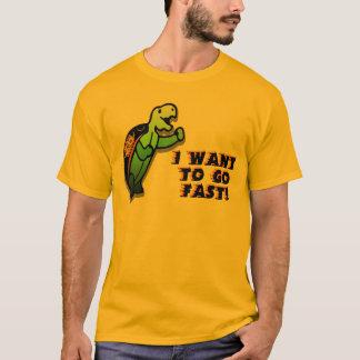 Camiseta Eu quero ir rapidamente
