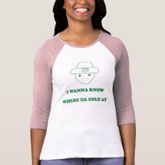 Camiseta Eu quero saber em onde ouro da Dinamarca
