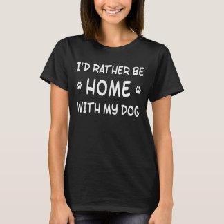 Camiseta Eu rathe seria home com meu cão