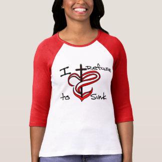 Camiseta Eu recuso afundar - o vermelho