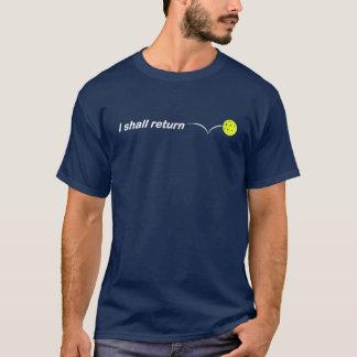 Camiseta Eu retornarei o ajustado fraco escuro exterior de