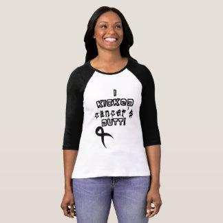 """Camiseta """"Eu retrocedi T do basebol do bumbum do cancer"""""""