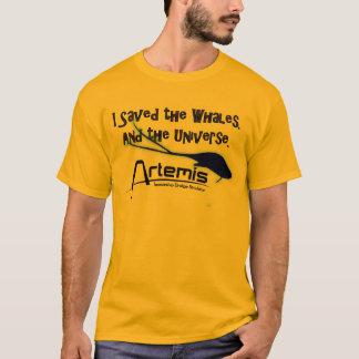 Camiseta Eu salvar as baleias, e o universo