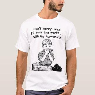 Camiseta Eu salvar o mundo… com minha harmônica!
