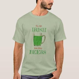 Camiseta Eu serei irlandês no T de algumas cervejas