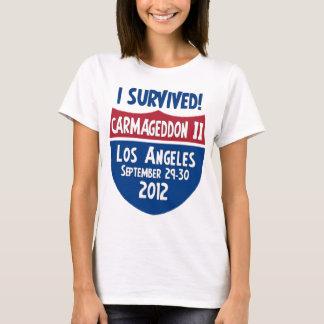 Camiseta Eu sobrevivi a Carmageddon 2 - fechamento de Los