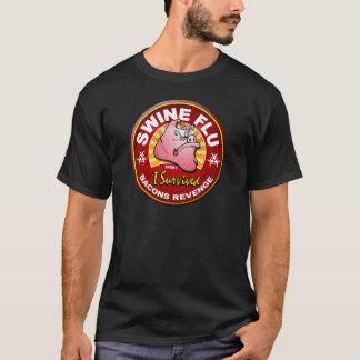 Camiseta Eu sobrevivi à gripe dos suínos - H1N1