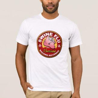 Camiseta Eu sobrevivi à pandemia da gripe dos suínos -