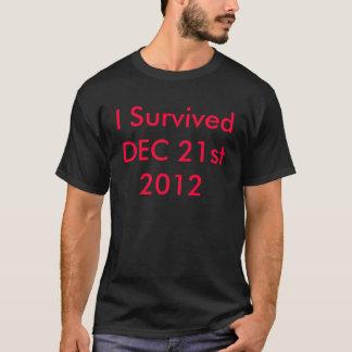 Camiseta EU SOBREVIVI a t-shirt/camisetas do 21 de dezembro