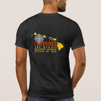Camiseta Eu sobrevivi ao ataque de mísseis balístico de