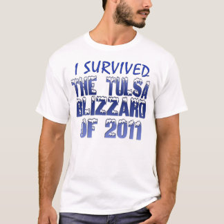 Camiseta Eu sobrevivi ao blizzard de Tulsa