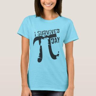 Camiseta Eu sobrevivi ao dia do Pi - dia engraçado do Pi