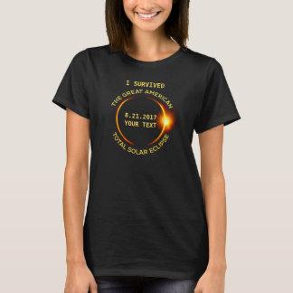 Camiseta Eu sobrevivi ao eclipse solar total 8.21.2017 EUA