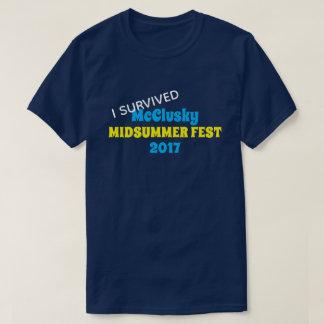"""Camiseta """"Eu sobrevivi"""" ao evento ou à reunião"""