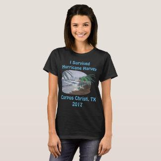Camiseta Eu sobrevivi ao furacão Harvey 2017 (Corpus