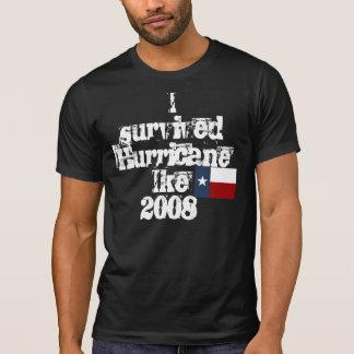 Camiseta Eu sobrevivi ao furacão Ike2008