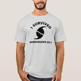 Camiseta Eu sobrevivi ao hurriquake