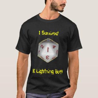 Camiseta Eu sobrevivi ao parafuso de relâmpago do DM!