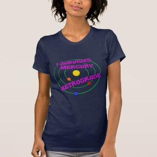 Camiseta Eu sobrevivi ao rosa retrógrado de Mercury