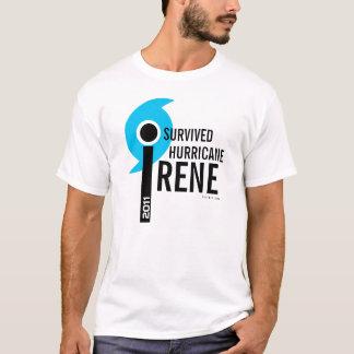 Camiseta Eu sobrevivi ao t-shirt 1 de Irene do furacão