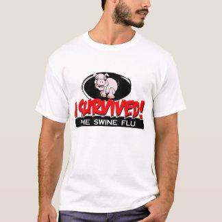 Camiseta Eu sobrevivi ao t-shirt dos homens da gripe dos