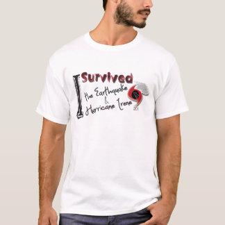 Camiseta Eu sobrevivi ao terremoto & ao furacão Irene