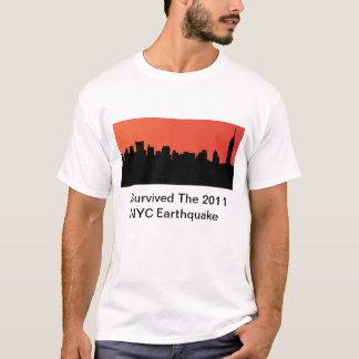 Camiseta Eu sobrevivi ao terremoto de 2011 NYC