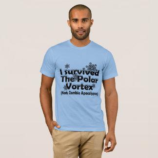 Camiseta Eu sobrevivi ao Vortex polar!