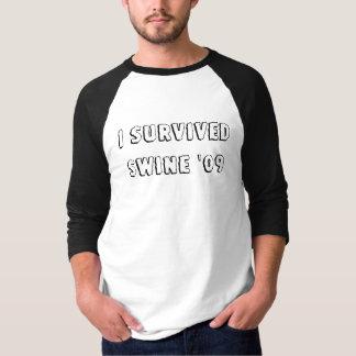 Camiseta Eu sobrevivi aos suínos '09