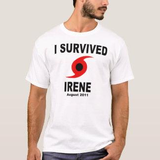 Camiseta EU SOBREVIVI IRENE ao agosto de 2011