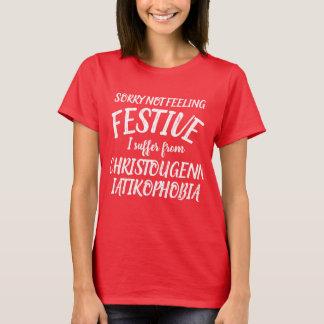 Camiseta Eu sofro do t-shirt do christougenniatikophobia