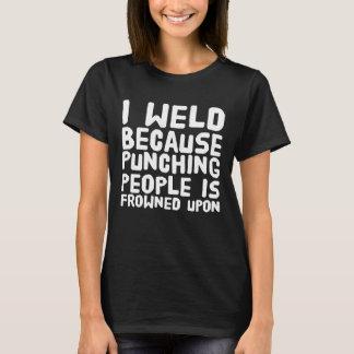 Camiseta Eu soldo porque perfurar pessoas é olhada de