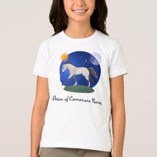 Camiseta Eu sonho de pôneis de Connemara