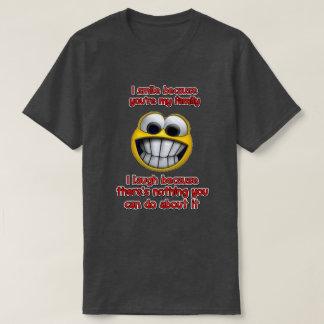 Camiseta Eu sorrio porque…