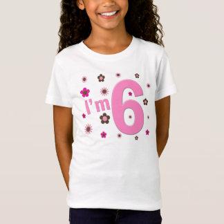 Camiseta Eu sou 6 flores do rosa e do Brown