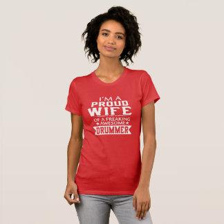 Camiseta Eu sou a ESPOSA do BATERISTA ORGULHOSO
