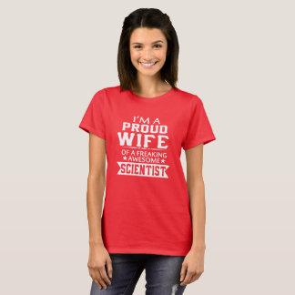 Camiseta Eu sou a ESPOSA do CIENTISTA ORGULHOSO