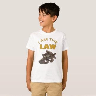 Camiseta Eu sou a lei com uma metralhadora m4a1