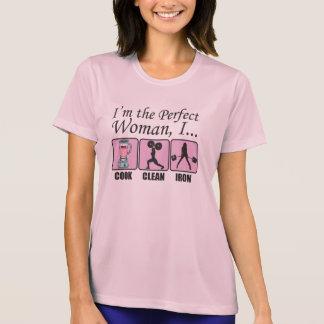 Camiseta Eu sou a mulher perfeita - eu cozinho, limpo e