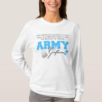 Camiseta Eu sou afortunado - namorada do exército