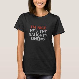 Camiseta Eu sou agradável ele sou impertinente