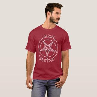 Camiseta Eu sou aprovado com LaVey!