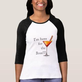Camiseta Eu sou aqui para o cocktail WomensTshirt das vaias