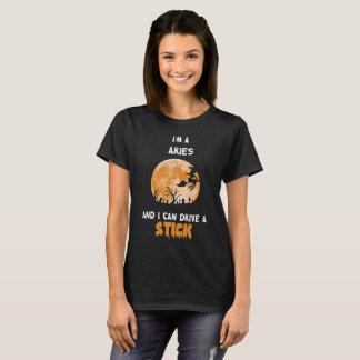 Camiseta Eu sou Aries e eu sei conduzir um t-shirt da vara