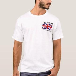 Camiseta Eu sou britânico e é meu aniversário