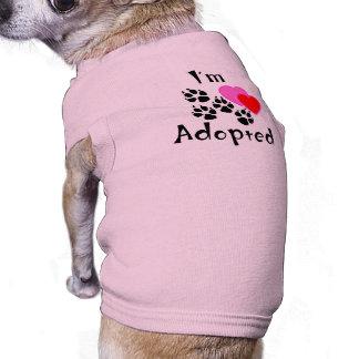 Camiseta Eu sou camisetas de cão adotadas