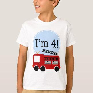 Camiseta Eu sou carro de bombeiros de quatro vermelhos