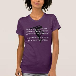 """Camiseta """"Eu sou citações fêmeas do destino do guerreiro da"""